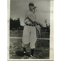 1929 Press Photo Lyn Lary, rookie shortstop, New York Yankees spring camp