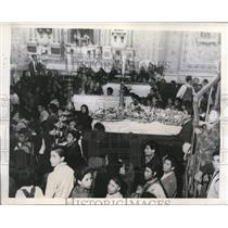 1946 Press Photo Funeral of victims of poltical rioting at Leon Mexico