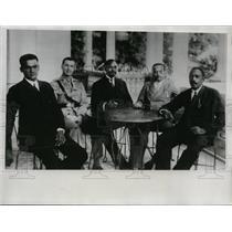 1934 Press Photo Captain John Craige & city council & Port Au Prince mayor
