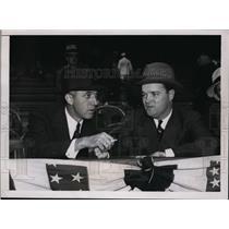 1937 Press Photo National League president Ford Frick & Giants Owner Stoneham