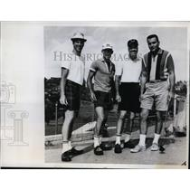 1961 Press Photo Dodgers Dick Farrell, Wally Moon, Ron Perranoski, Duke Snider