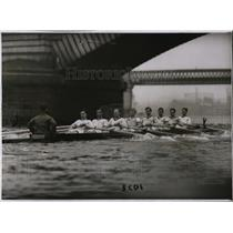 1930 Press Photo Oxford crew MJ Waterhouse, RV Low, NE Hutton, CM Johnston