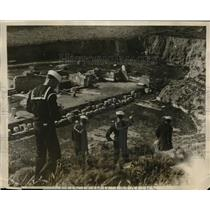 1927 Press Photo U.S. sailors visiting Roman ruins in Carthage, Tunisia
