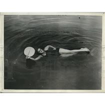 1932 Press Photo Thelma Howe endurance swim of 98 hours at St Petersburg Fla