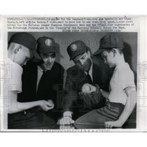 1962 Press Photo Pirates Bob Friend, Ricky Spatz, Gus Schoop age 8 - nes43723