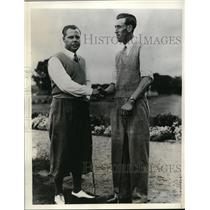 1935 Press Photo Percy Alliss, AH Padgam of British Ryder Cup golf team