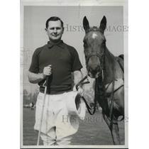 1934 Press Photo Cecil Smith captain of Texan Polo team in LA California