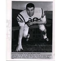 1961 Press Photo Tom Hall, Minnesota End Named Lineman of the Week by AP