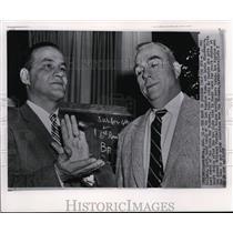 1957 Press Photo Coach Sid Gillman of Rams & Packers Coach Lisle Blackbourn