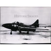 1955 Press Photo F9F-6 Cougar US Navy fighter - spx03420