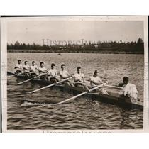 1940 Press Photo U of Washingtom jayvee crew Vic Tomo, Vic Michaelson
