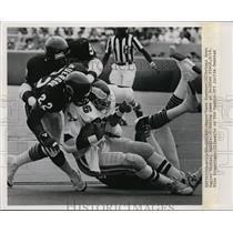 1986 Press Photo Bears Dave Duerson & Mike Singletary vs Eagles Michael Haddix