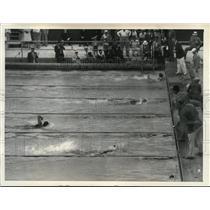 1932 Press Photo Takash Yokoyama winning the 400 Meter Free Style, L.A. Olympics