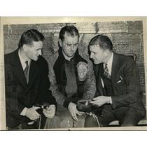 1936 Press Photo Bill Splaine, Art Smith, Hay Harunton for Olympics - nes45577