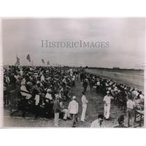 1935 Press Photo Crowds at Miami All American Air Manuevers in Florida