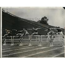 1931 Press Photo Nisbet, Berry, Smith, Bills, Stokes in IC4A track meet