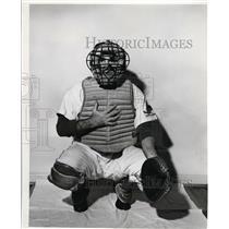 1956 Press Photo Joe Garagiola catcher with St Louis Cardinals