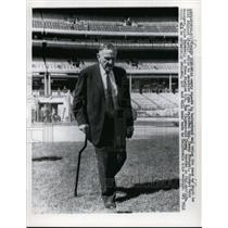 1965 Press Photo Ex Mets manager Casey Stengel at Shea Stadium - nes46187