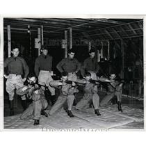 1941 Press Photo US Cavalry John J Tumas JR, LEo Mcken, Francis Hepner