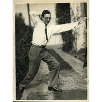 1925 Press Photo Fred C Byers University of California cheer yell leader
