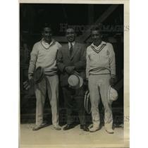 1925 Press Photo Japanese tennis T aKitchi Haralda, Zenzo Shimizu, M Fukuda