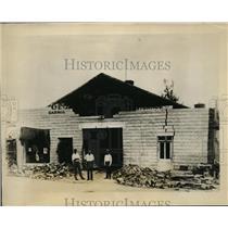 1926 Press Photo Concrete Garage in Miami Beach Damaged by Hurricane - ney02908
