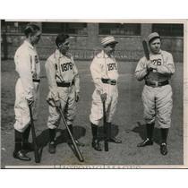 1936 Press Photo Vince burbach, Augie Kress, Tom Walsh and Harold Compton