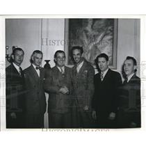 1945 Press Photo Baseball Commissioner A.R. Chandler with Junior Chamber heads