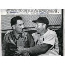 1959 Press Photo Fred Hutchinson Former Cardinal Manager With Current Manager
