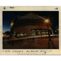 1997 Press Photo Portland Trail Blazers Arena at night - orb41829
