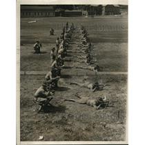 1930 Press Photo US Military Academy rifle range drill for target practice