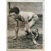 1932 Press Photo Jimmy Owen at 28th annual Renewal NCAA track meet Chicago