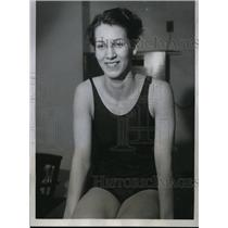 1934 Press Photo Doris Shinman at National AAU 100 yard breaststroke swim