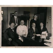 1924 Press Photo Sen. Robert Lafollette with Nat'l Committee Progressive group