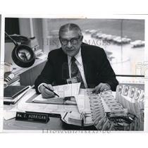 1975 Press Photo Ohio Lottery Commission Chief of Security, William C. Horrigan