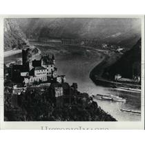 Press Photo Old fortresses & castle scenery KD German Rhine Line Cruises