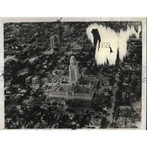 1931 Press Photo Air View Of Nebraska's $10,000,000 Capitol At Lincoln Nebraska
