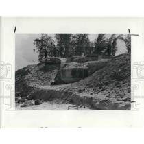1984 Press Photo Bomb shelters shoreline in Cuba - cva23092
