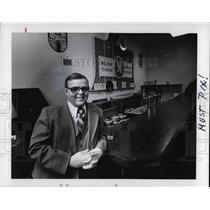 1978 Press Photo Joe Kocab, Secretary of Karlin Hall Czech Nationality Hall
