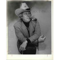 1978 Press Photo Billy Hudson in his cowboy attire - cva24845