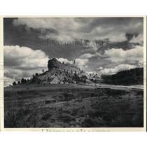 1970 Press Photo View Of Mountains In Scott's Bluff Nebraska - cva20184