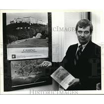 1979 Press Photo Russell Hartley at the Casino Abbazia Di Montecassino