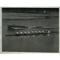 1935 Press Photo National Intercollegiate crew race Wisconsin at practice