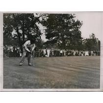1935 Press Photo Paul Runyan vs Dick Burton in Ryder Cup golf Ridgewood NJ