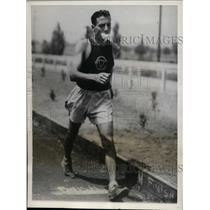 1932 Press Photo Michael Pecora of NY in 50,000 meter Olympic walk trials
