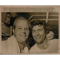 1973 Press Photo White Sox pitcher Wilbur Wood & Cy Acosta win vs Twins