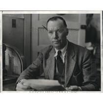 1930 Press Photo Capt. Walta C Allen head of Los Angeles Palace  - nee20187