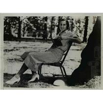 1934 Press Photo Ms.Round winner in Women's single Final s in Wimbledon