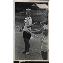 1969 Press Photo Baton instructor Elaine Ilerner  - nee92985