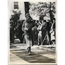 1928 Press Photo Mrs Woodrow Wilson widow of President at St John's Church in DC